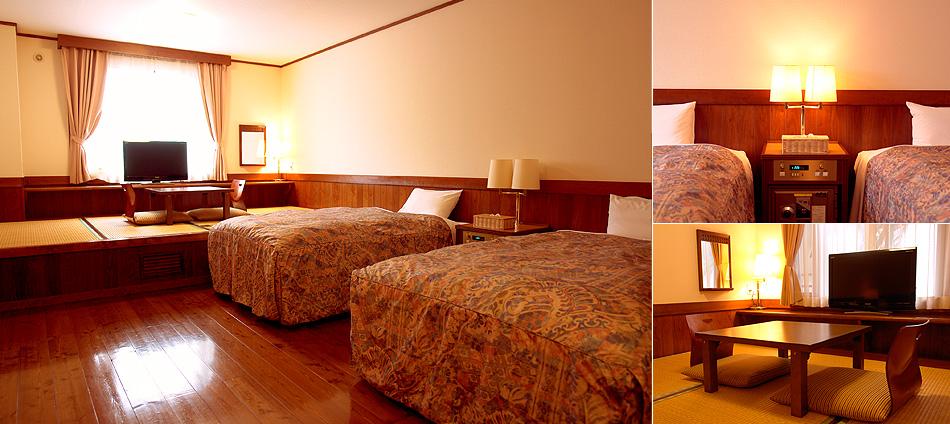 和洋室B (ツインベッド+4畳)